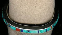 BRACELETS*NAVAJO*SILVER*MULTI-INLAY*Jimmie King Jr.