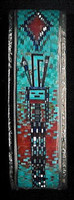 BRACELETS*NAVAJO*SILVER*MULTI-COLORED MOSAIC INLAY*YEI*Carl & Irene Clark_3