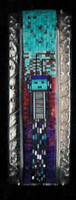 BRACELETS*NAVAJO*SILVER*MULTI-COLORED MOSAIC INLAY*YEI*Carl & Irene Clark_2