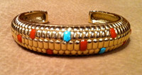 BRACELETS*HOPI*14KT GOLD*CORN MOTIF*Don Supplee