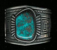BRACELETS NAVAJO SILVER MORENCI TURQUOISE Jerry Roan Carl Max Luthy SOLD