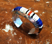 BRACELETS NAVAJO MULTI-COLOR INLAY GIBSON NEZ SOLD