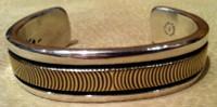 BRACELETS NAVAJO GOLD & SILVER Bruce Morgan BNGSBM55 SOLD