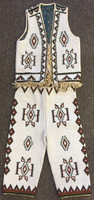 Native American Indian Style Fully Beaded Childs Vest & Leggings SOLD