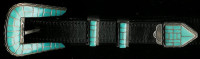 BELT BUCKLES*ZUNI*SILVER*RANGER STYLE*TURQUOISE*S.N.W. SOLD