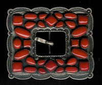 BELT BUCKLES SILVER CORAL Don Lucus