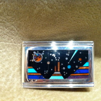 BELT BUCKLE NAVAJO SILVER Jim Harrison SOLD