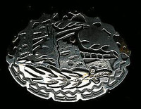 BELT BUCKLE KIOWA SILVER GOLD Phil Pvo