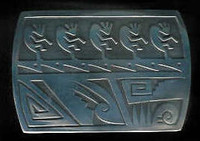 BELT BUCKLE HOPI SILVER KOKOPELLI Dawn Lucus