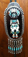 ZUNI KACHINA PAWN BOLO RAISED INLAY ARP AUGUSTINE & ROSALIE PINTO SOLD