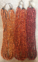 SANTO DOMINGO RARE MEDIUM ORANGE SPINY OYSTER SHELL NECKLACE 2 KEN AGUILAR