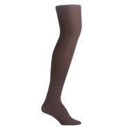 Bearfoot Girl's PK1 70D Nylon Opaque Tights with Cotton Gusset - Chocolate
