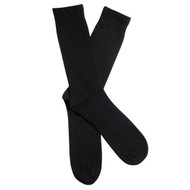 Sock Cafe Mens PK2 cotton crew Perfectly plain business socks in Black