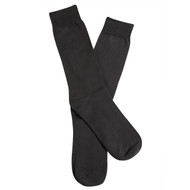 Sock Cafe Mens PK2 cotton crew Perfectly plain business socks in Charcoal