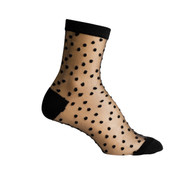 Sock Cafe Women's PK1 Sheer Spot 1/4 Crew