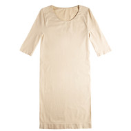 Sock Café Body PK1 Seamless 3/4 Sleeve Scoop Neck Dress - Skin