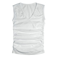 Sock Café Body PK1 Seamless Ruched Sleeveless V-Neck Top - White