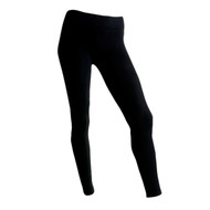 Sock Café Body PK1 Plain Seamless Full Length Leggings - Black