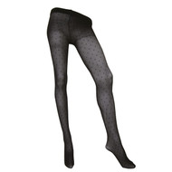Sock Café Womens PK1 Dotty 20 Denier Mesh Tights - Black