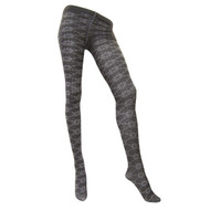Sock Café Womens PK1 Girasole 60 Denier Pattern Tights - Grey
