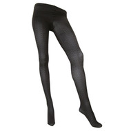 Sock Café Womens PK1 Zig Zag 60 Denier Textured Tights - Black/Charcoal