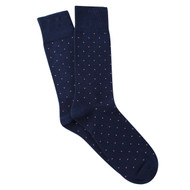 Sock Cafe Mens PK1 cotton contemporary Brooklyn Block crew socks in navy