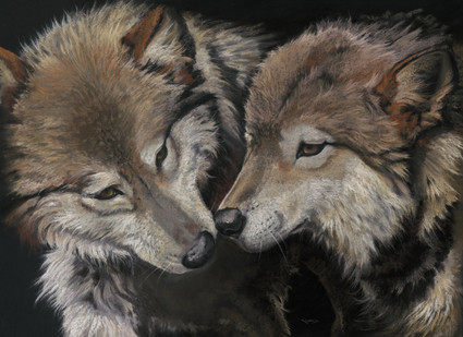 Wolf artwork by Kay Johns