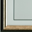 Double mount and frame as supplied when ordered