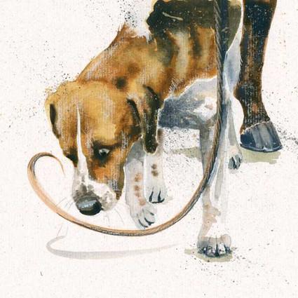 Fox Hound artwork by Kay Johns