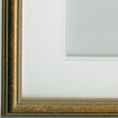 Double white mount with gold Frame