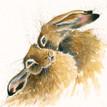 Hare art by Kay Johns