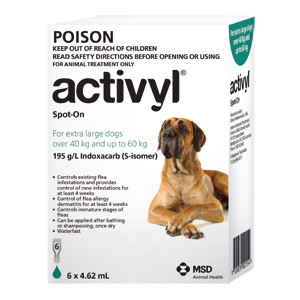 Activyl for Dogs 88-132 lbs (40-60 kg) - Single Dose - Green