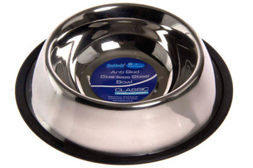 Anti Skid Stainless Steel Dog Bowl - 8oz