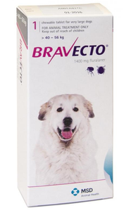 Bravecto for Dogs 88-123 lbs (40-56 kg) - Purple - 1 Tablet (3 months)