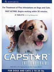 Capstar Flea Tablets for Dogs & Cats 2-25 lbs (0.5-11 kg) - Blue - 30 pack (5 Boxes)