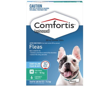 Comfortis for Dogs 20.1-40 lbs (9.1-18 kgs) - 6 Pack - Green