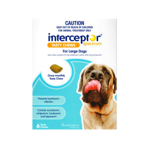 Interceptor Spectrum for Large Dogs 51-100 lbs (22-45 kgs) - 6 Pack - Blue