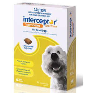 Interceptor Spectrum for Small Dogs 11-25 lbs (4-11 kgs) - 12 Pack - Green