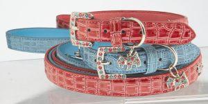 "Max & Bella Diamond Pups Collar - Medium - 6/8"" x 18"" (2cm x 45cm)"