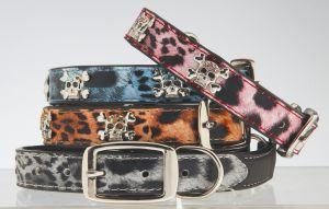"Max & Bella Safari Skull Dog Collar - Large - 6/8"" x 21"" (2cm x 55cm)"