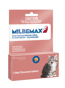 MILBEMAX for Small Cats up to 4.4 lbs (0.5-2 kgs) - 2 Pack - Pink