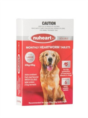 Nuheart for Large Dogs 51100 lbs 2345 kgs Red 12 Pack
