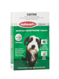 Nuheart Green for Medium Dogs 6 Pack