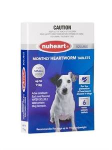 Nuheart Generic Heartgard for Small Dogs 12 Pack