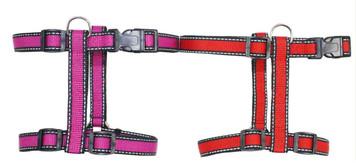 "Reflective Neoprene H-Shape Dog Harness - Large (1"" x 27 1/2""-35"")"
