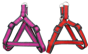 "Reflective Neoprene Step-in Dog Harness - Large (1"" x 27 1/2""-35"")"