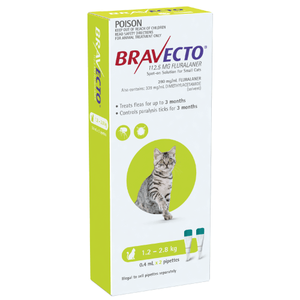 Bravecto Spot-On for Small Cats Without Rx Prescription