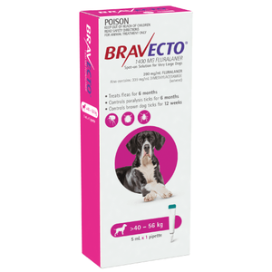 Bravecto SPOT-ON for Extra Dogs 88-123lbs (40-56kg) - Purple (6 Months)