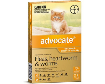 Advocate for Cats & Kittens up to 4 kgs (up to 10 lbs) - 3 Pack - Orange