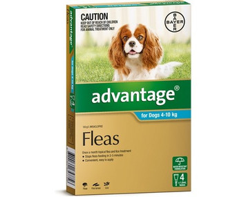 Advantage for Dogs 4-10 kgs (11-20 lbs) - Teal - 4 Pack